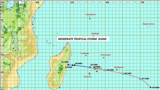 L'alerte 3 maintenue : Diane est à 140 km de Maurice