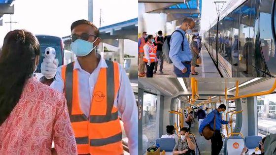 Rose-Hill : Port du masque, distanciation sociale et prise de température dans le tram