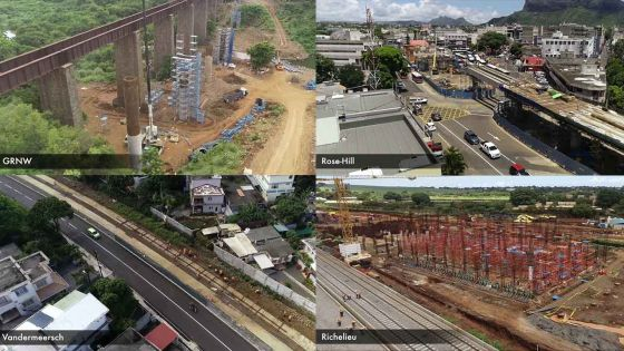 Metro Express - PhaseII: 50structures empiètent sur le tracé