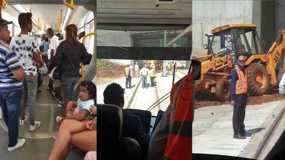 Coromandel : De la boue sur les rails, le Metro Express cale