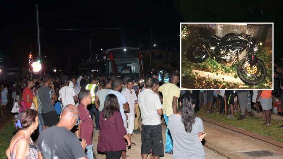 Accident mortel entre un tram et une moto : «Aila, get rezilta !», s'indigne un habitant de Barkly