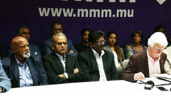 Elections générales : les trois candidats du MMM au no 7 sont connus