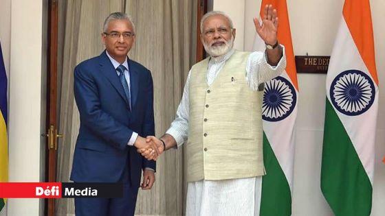 Le Premier ministre indien, Narendra Modi, félicite Pravind Jugnauth