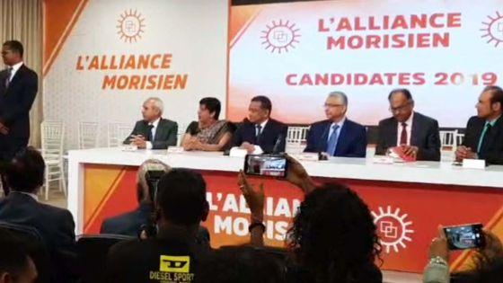 Présentation des 60 candidats de l'Alliance Morisien : suivez notre live