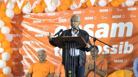 Pravind Jugnauth à Plaine-Verte : «Zot pa pou reconnaître Port-Louis»