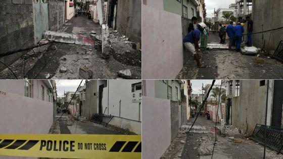 Plaine-Verte : des pans d'une maison s'effondrent
