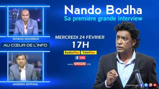 Au Cœur de l'Info : Nando Bodha sur Radio Plus ce mercredi