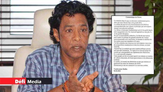 Politique : Bodha donne les raisons de sa démission