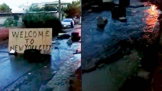 Saint-Paul : manifestation d'habitants en colère, des eaux d'excréments sur la route principale