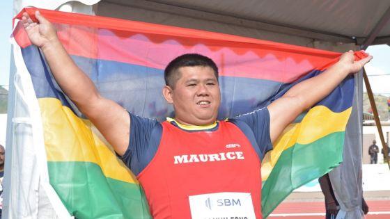 JIOI - Athlétisme : à 37 ans, le lanceur Nicolas Li Yun Fong gagne l'or au lancer du marteau