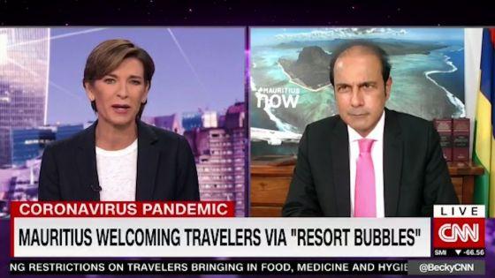 Sur CNN : les risques de contamination à la Covid-19 restent une source de préoccupation, précise Obeegadoo
