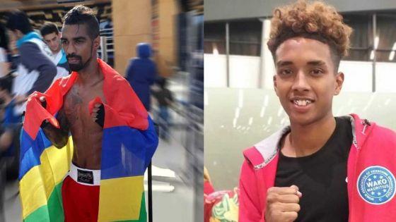 Coupe du monde de kick-boxing - les Mauriciens Bauluck et Robertson décrochent l'or