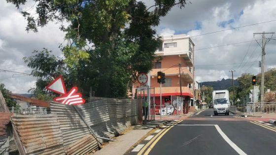 Port-Louis : Un panneau abîmé dans un accident