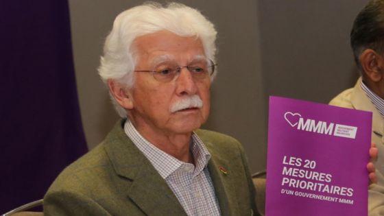 Bérenger propose «l'alignement immédiat de la pension de vieillesse sur le salaire minimum» et une allocation de chômage pour les jeunes