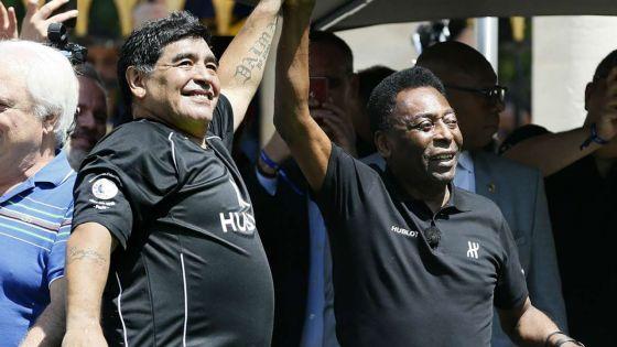 Pelé sur Maradona : «J'espère qu'un jour nous pourrons jouer ensemble au ciel»