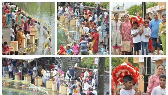 Maha Shivaratri : des dévots déjà au Ganga Talao pour ramener l'eau sacrée
