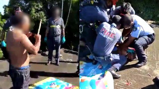 Bambous : policiers et pompiers sollicités pour évacuer un homme «méditant» sur le toit