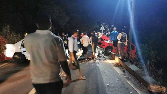 Britannia : deux blessés dans une collision entre deux voitures