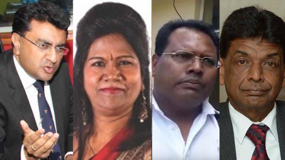 Yatin Varma, Balkissoon Hookoom, Prateebah Bholah, Raj Penthiah et Krishna Molaye expulsés du PTr