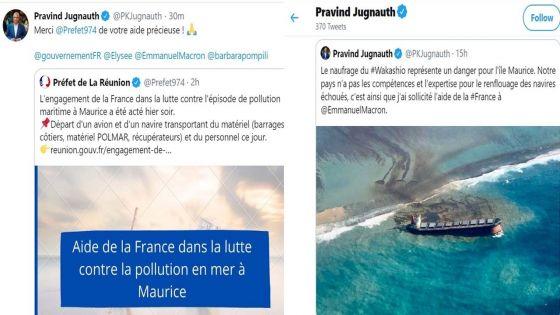 Marée noire : Pravind Jugnauth sollicite l'aide de la France