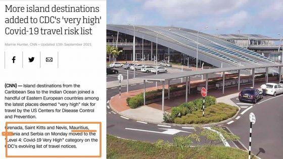 Covid-19 : Maurice classé parmi les destinations à risque très élevé