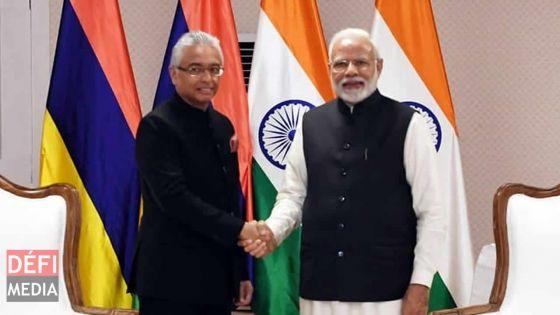 Visite privée en Inde : Pravind Jugnauth rencontre Narendra Modi