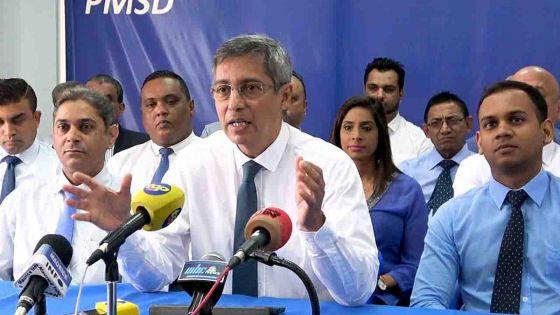 Le PMSD ne compte pas voter en faveur du Political Financing Bill sous sa forme actuelle