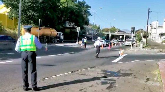 Entrée de Port-Louis: La circulation ralentie par le contrôle routier