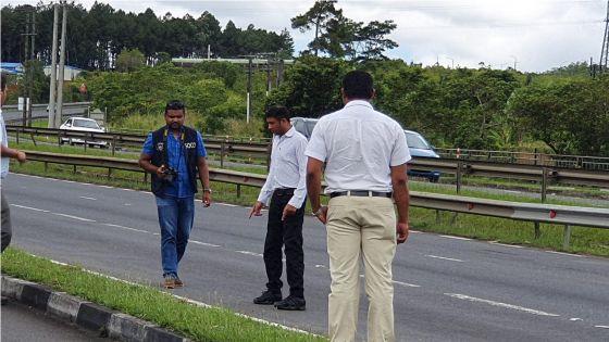 Accident à Wooton : le policier Domun participe à une reconstitution des faits