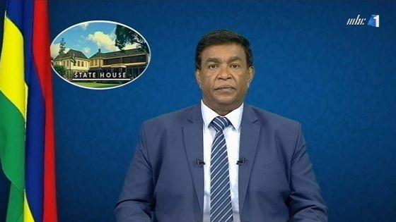 Noël : message du président de la République, Pradeep Roopun