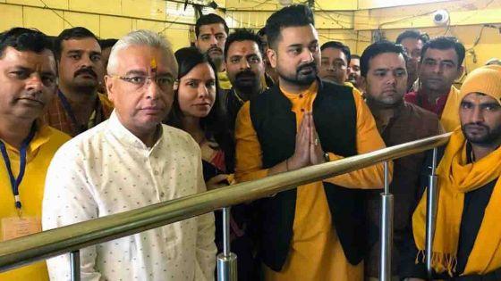Visite privée : «Kobita Jugnauth avait juré de revenir au temple Baglamukhi si son époux est élu PM», dit le président du temple