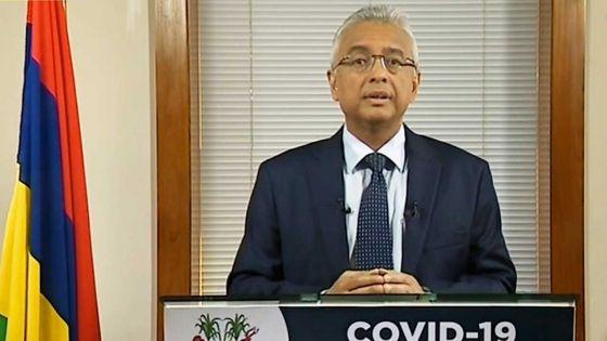 «Si zame ena nouvo foyer kontaminasion lokal nou pa pou ena lot swa ki reimpoz  bane mezir strik», prévient le PM