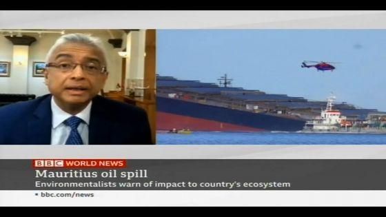 Fuite d'huile du Wakashio : la BBC interroge Pravind Jugnauth
