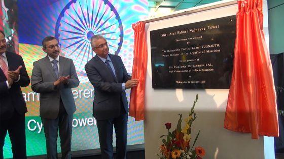 Ebène : la Cybertour I désormais connue comme Atal Bihari Vajpayee Tower
