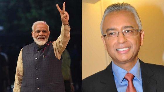 Pravind Jugnauth félicite Narendra Modi «pour sa grande victoire»