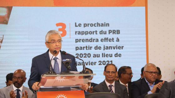 Manifeste électoral de l'Alliance Morisien : «le rapport du PRB effectif à partir de janvier 2020», annonce Pravind Jugnauth