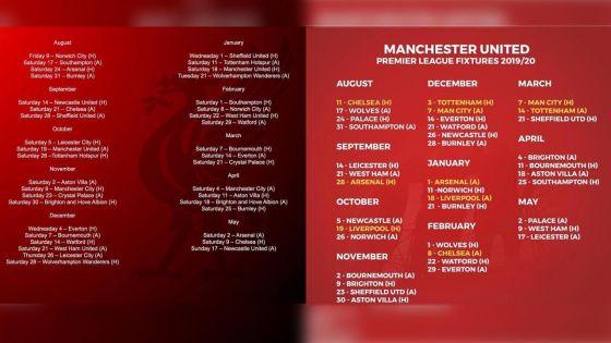 [Fixtures 2019-20] Premier League : une alléchante affiche, Manchester United/Chelsea, dès la première journée