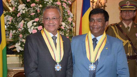 Suivez en direct la cérémonie de prestation de serment du nouveau président de la République, Pradeep Roopun, et du vice-président, Eddy Boissezon