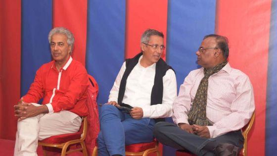 PTr-PMSD : les trois candidats au no 18, Duval, Sithanen et Boolell présentés à Pavillion, Quatre Bornes ; suivez leurs interventions