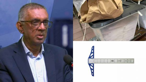 Bulletins soigneusement rangés dans une urne : voici les explications d'Irfan Rahman qui parle de l'utilisation d'un T-square