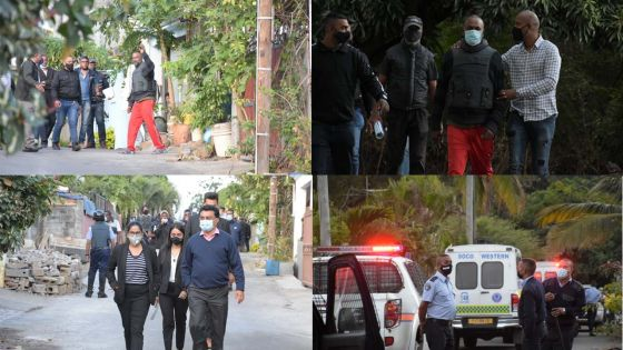 [En images] Coups de feu mortels à Bambous : le principal suspect retourne sur les lieux du drame