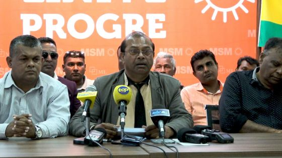 Flacq/Bon Accueil : 4 à 5 personnes «pe rode la tete des députés Roopun, Dayal et Rampertab», dit le président du comité régional MSM