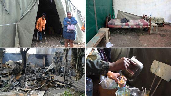 Incendie à Quatre-Bornes : la famille Philippe caille sous un abri improvisé