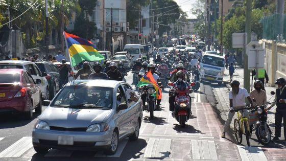 « Rallye de protestation » de la Plateforme contre l'augmentation du prix des carburants le 18 septembre