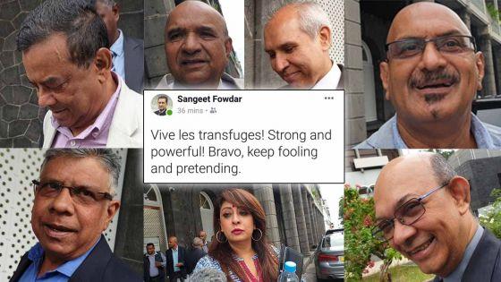 Réunion parlementaire : le post sur « les transfuges » de Sangeet Fowdar n'a pas été lu par les membres du gouvernement