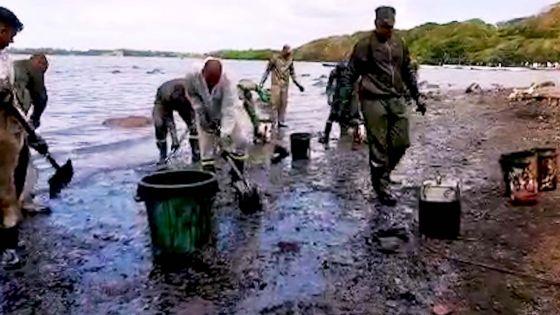 Marée noire : Rivière-des-Créoles fait peine à voir, l'opération de nettoyage se poursuit