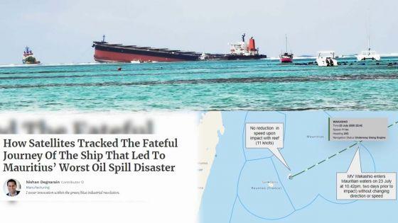 Naufrage du Wakashio : le navire est entré dans la zone économique exclusive de Maurice le 23 juillet, selon Forbes