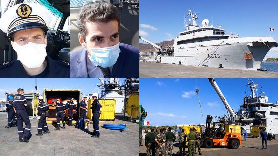 Fuite d'huile du Wakashio : «Plus de 5 tonnes d'équipements arrivés de La Réunion sur le Champlain», indique Clément Arboy