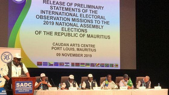 Législatives : une délégation d'observateurs politiques de la SADC soumet son rapport préliminaire sur les élections
