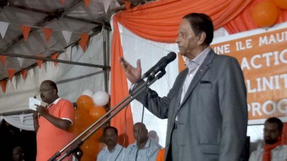 «Pa pou ena enn lot Anerood Jugnauth pou vin releve sa pei la», soutient SAJ